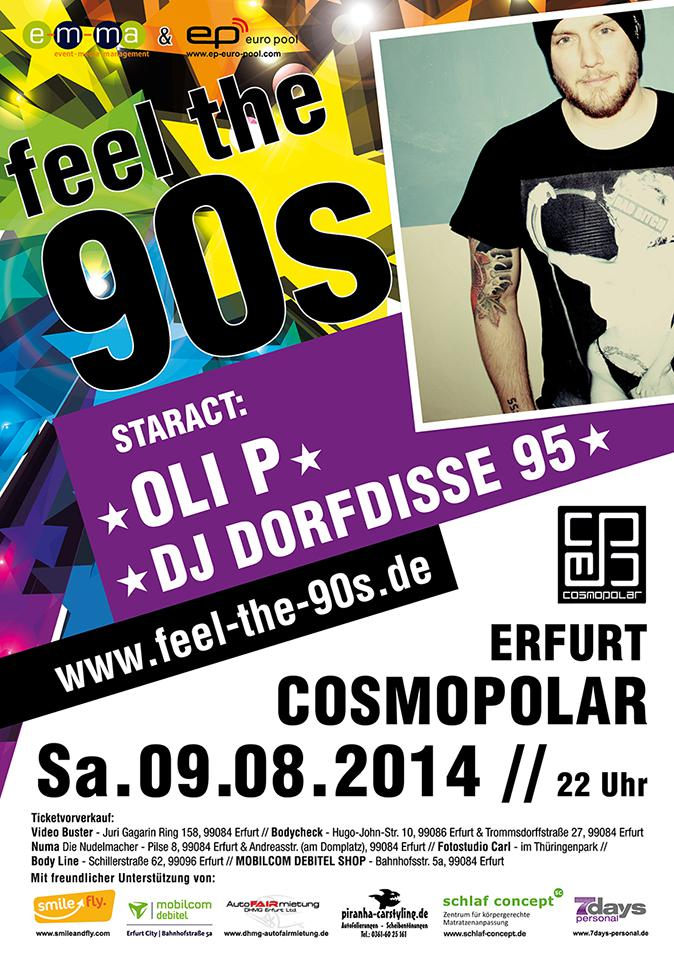 FEEL THE 90s - Staract: OLI P & DJ Dorfdisse 95