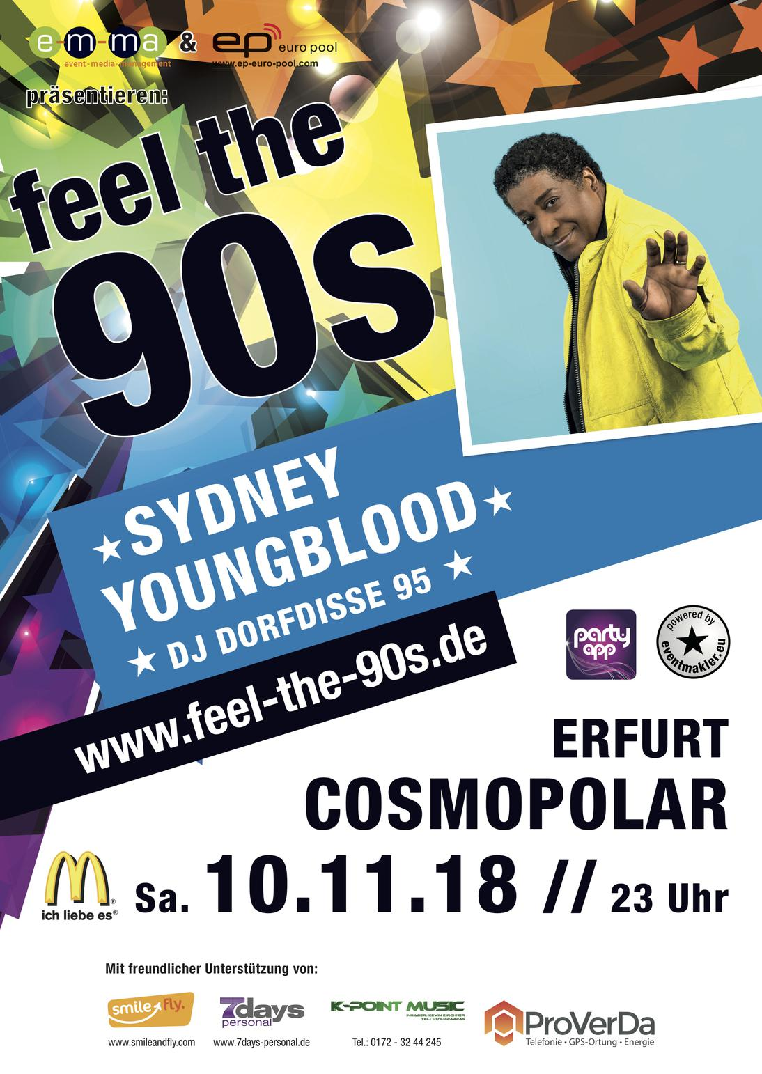 ★ Feel the 90s Erfurt ★ mit Sydney Youngblood & DJ Dorfdisse95